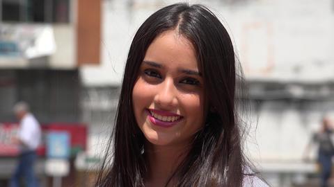 Cute Happy Teenage Girl Footage