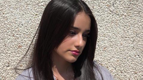 Sad And Depressed Teen Girl Footage