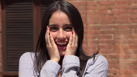 Surprised And Overjoyed Teen Girl Live Action