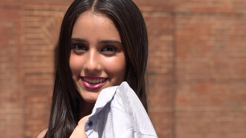 Confident Young Smiling Teen Girl Live Action