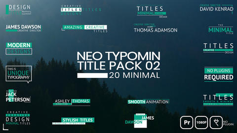 Neo Typomin Title MOGRT Pack 02 Motion Graphics Template