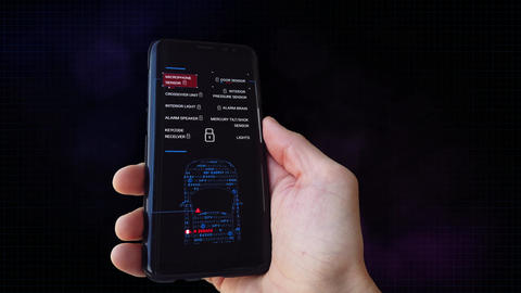 Hack Car Alarms. Security Vulnerability Search. Alpha Matte Animation
