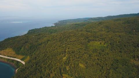 Aerial view beautiful coastline on the tropical island. Camiguin island Footage