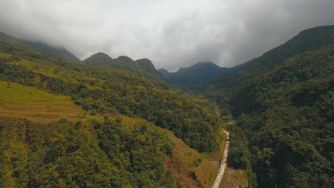 Tropical forest in the mountains. Camiguin island Philippines Live Action