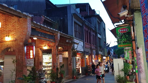 Historic sites, shopping streets, old streets,sunset Live Action