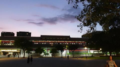 station,sky,sunset Live影片