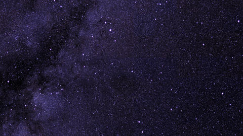 360-degree view of a star map with twinkling stars Stock Video Footage