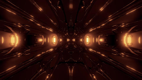 dark alien style sci-fi space tunnel corridor 3d rendering wallpaper motion Animation