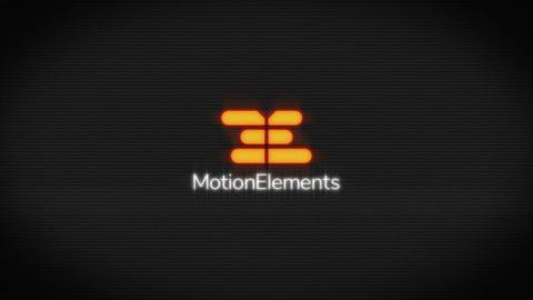 モニターにノイズが走ったグリッジタイトルアニメーション Gridge Title After Effectsテンプレート