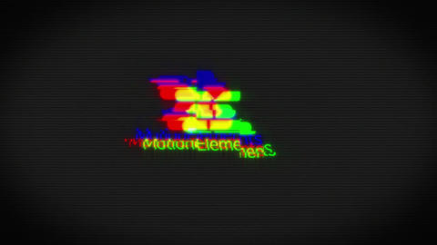 Glitch logo title After Effects Template