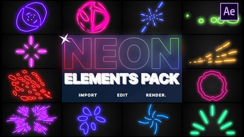 Neon Elements After Effects Template