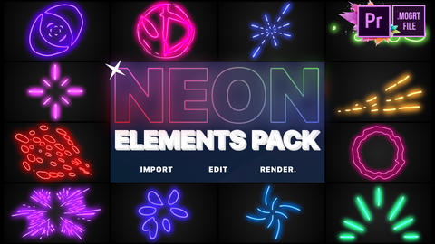 Neon Elements Motion Graphics Template