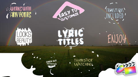 Cartoon Lyric Titles Apple Motion Template