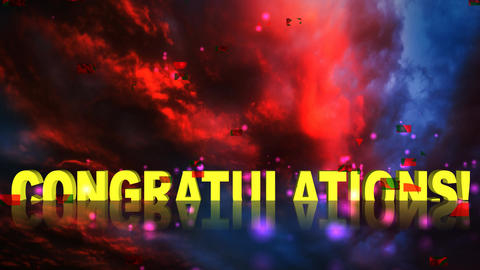 07 Animated greetings, Congratulations Animation