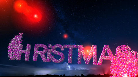 08 Happy Christmas animated text message Animation