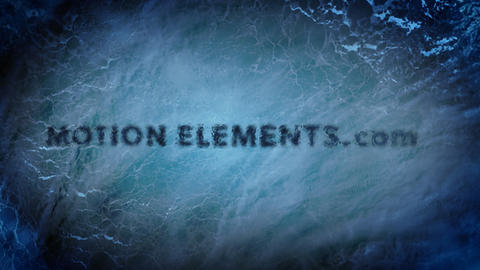 The cool ice title text animation which is most suitable for an opening! After Effects Template