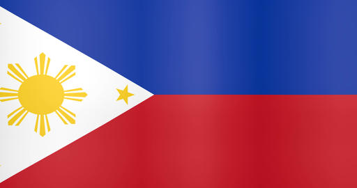 Waving Flag of Philippines Looping Background Live Action