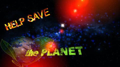 55 Animated template on subject Save the PLANET Animation