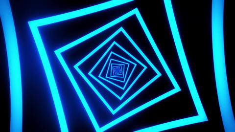 Blue Squares Tunnel VJ Loop Motion Graphic Background Animation