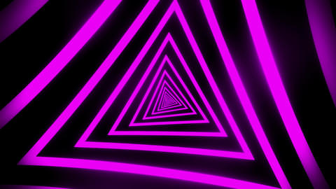 Purple Triangles Tunnel VJ Loop Motion Graphic Background Animation