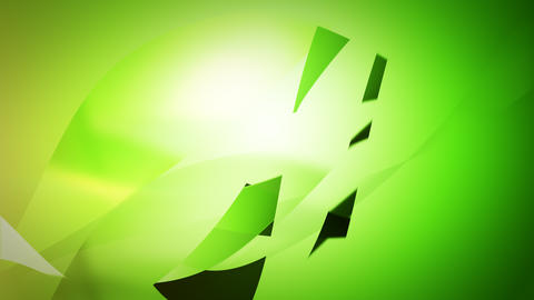Abstract green wavy line in slow looping moving Animation