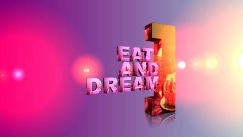 113 EAT AND DREAM logo for a Restaurant or caffee business Animation