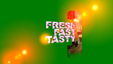 119 Fresh fast and tasty animated template for restourants food business Animation