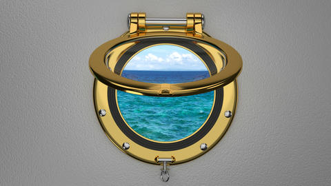 Boat porthole 3D animation Footage