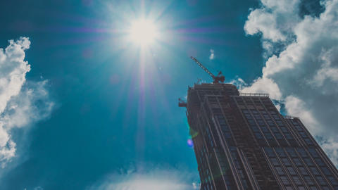 Corporate Buildings Under Construction Timelapse Footage