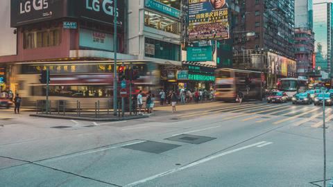 Traffic in Hong Kong Timelapse Footage