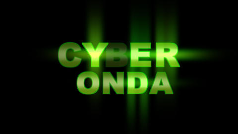 Cyber Monday neon text blinking and flickering on black background Animation