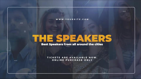 The Speakers Premiere Pro Template