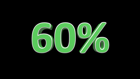 Discount percentages animation with alpha channel. Seasonal sales promotion Animation