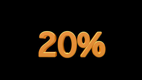 Shiny discount percentages animation with alpha channel Animation