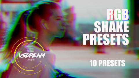 RGB Shake Presets Premiere Pro Template