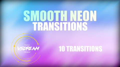 Smooth Neon Transitions Plantillas de Premiere Pro