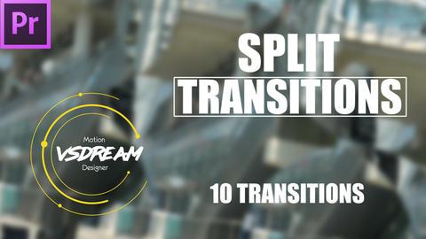 Split Transitions Premiere Pro Template