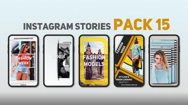 Instagram Stories Pack 15 After Effects Template
