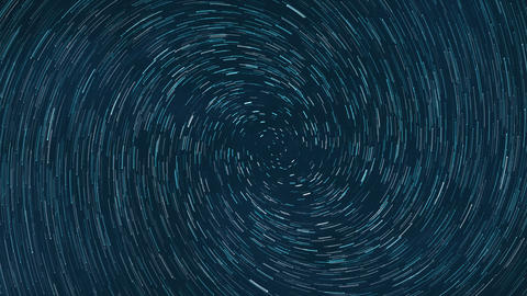 Time lapse shiny blue and white star trail background illustration Animation