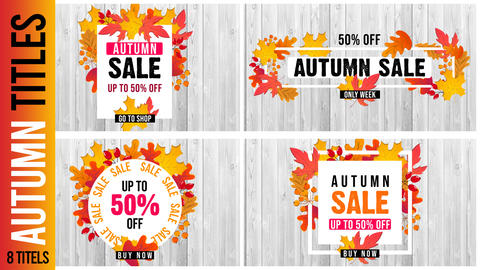 Autumn Title After Effects Template