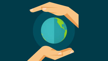 Hands protecting earth globe save the planet design element After Effects Template