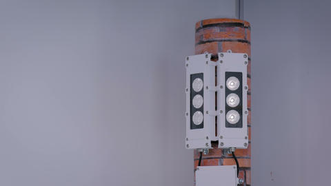 White aircraft warning lights flashing Live Action