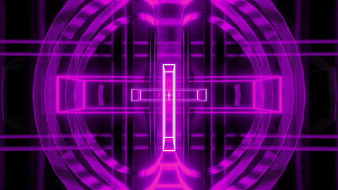 holy magenta vintage and futuristic christian cross 3d rendering motion Animation