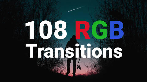 108 RGB Transitions Premiere Pro Template
