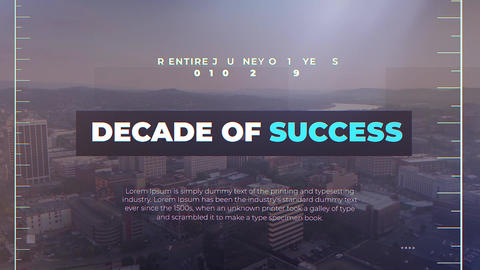 Decade of Success After Effects Template