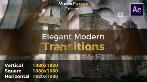 Elegant Modern Transitions After Effects Template