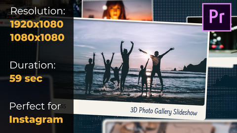 3D Photo Gallery Slideshow Premiere Pro Template