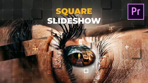 Square Slideshow Premiere Proテンプレート