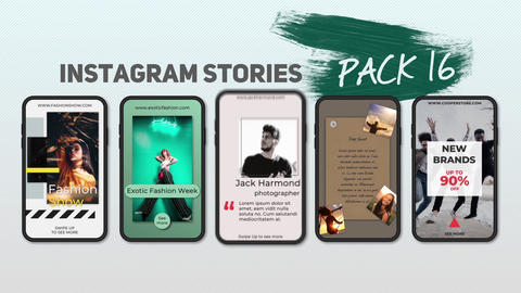 Instagram Stories Pack 16 After Effects Template