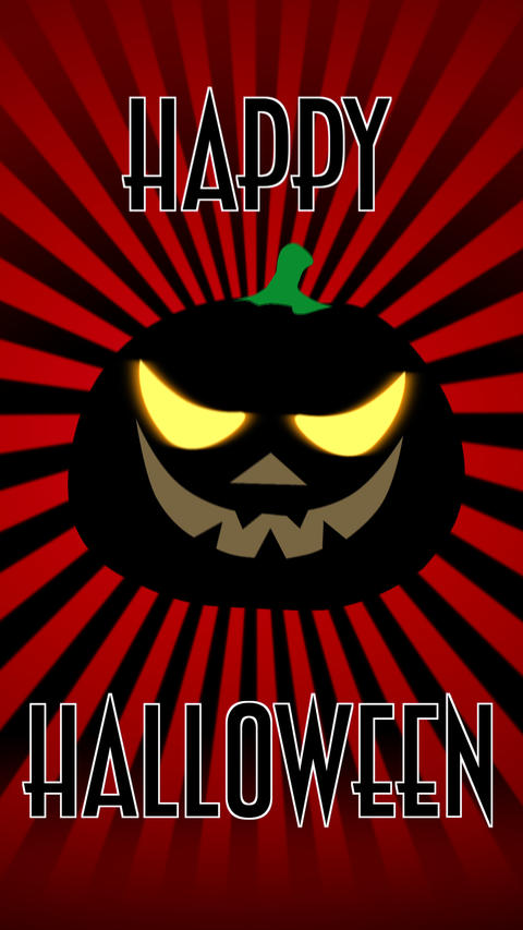 Happy Halloween colourful animated vertical theme... Stock Video Footage